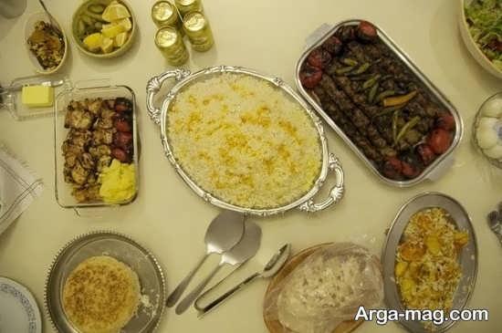 تزیینات غذا به شیوه ایرانی