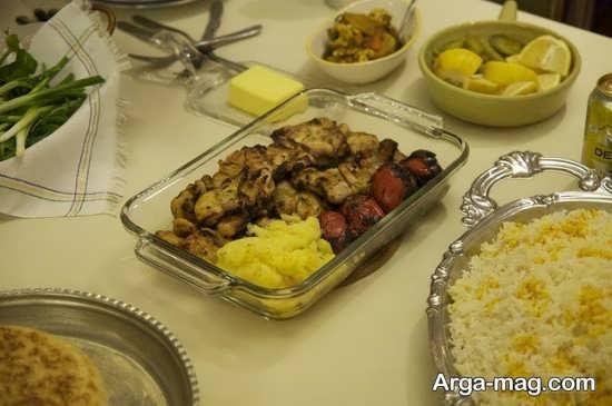 مدل تزئینات غذا به سبک ایرانی