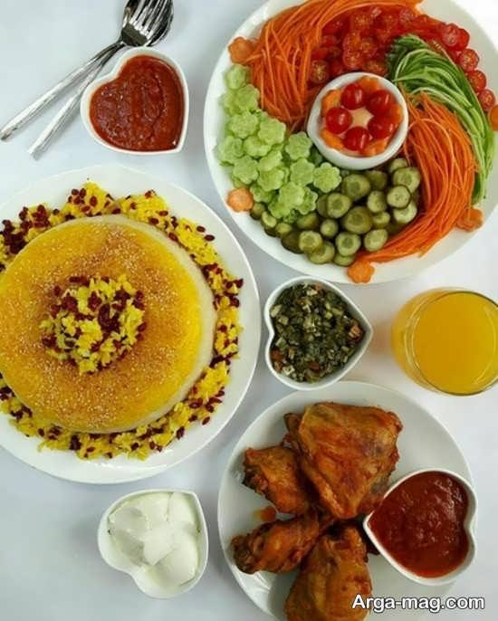 دیزاین جذاب غذا به سبک ایرانی