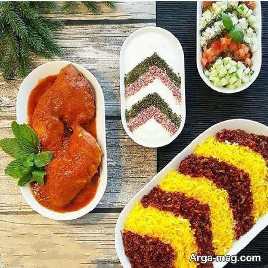 تزئین غذای لذیذ و خوشمزه به سبک ایرانی