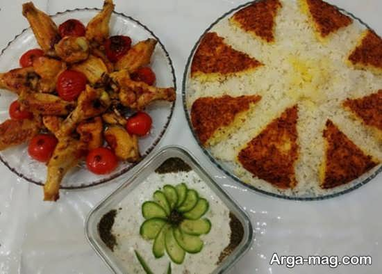 غذای مجلسی با تزیین ستاره