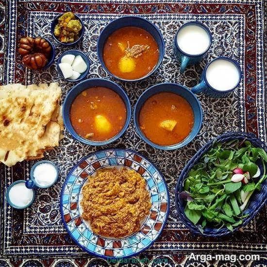 تزیین شکیل غذا به سبک ایرانی