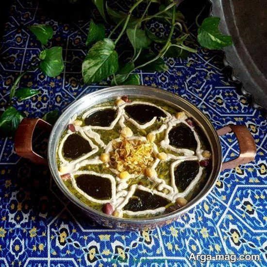 تزیینات غذای خوشمزه به سبک ایرانی