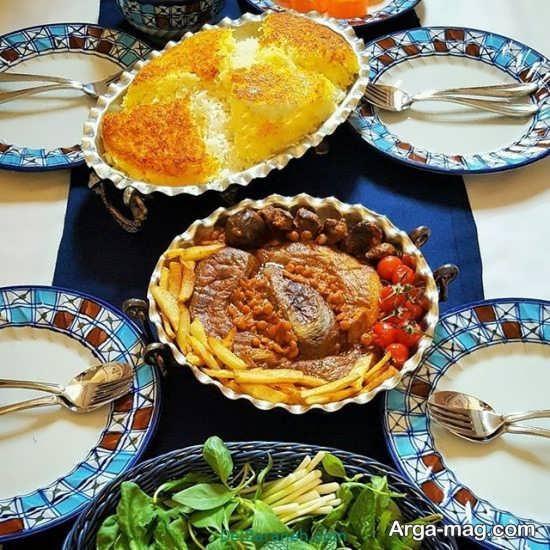 تزیین غذای لذیذ به سبک ایرانی