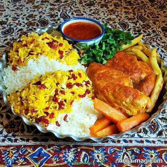 تزیین جذاب غذا به سبک ایرانی