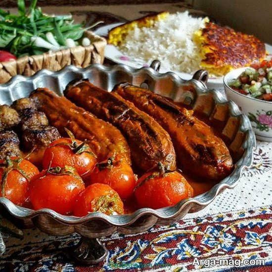 تزیین غذا به شیوه ایرانی