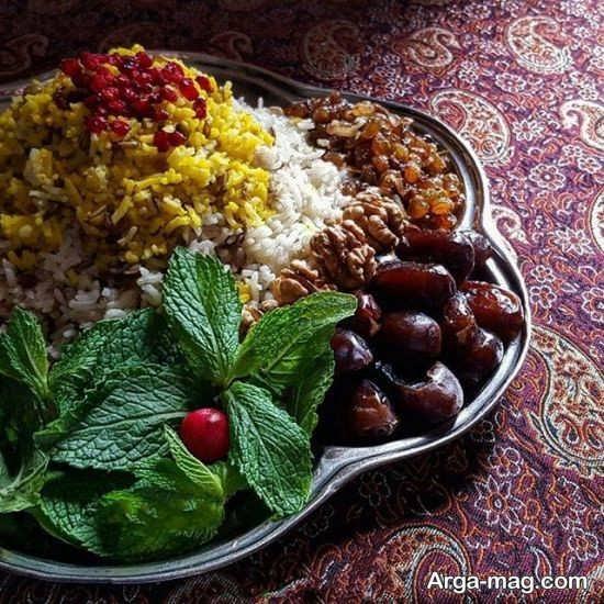 تزیین غذا با ایده های ایرانی