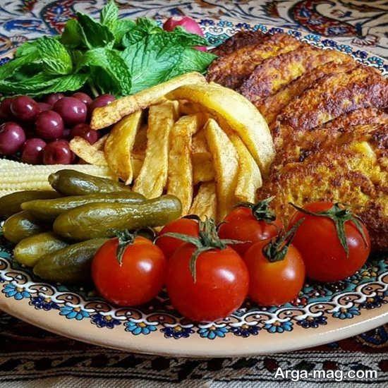 تزیین شیک غذا به سبک ایرانی