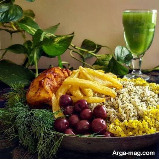 تزیین غذا به سبک ایرانی و جدید