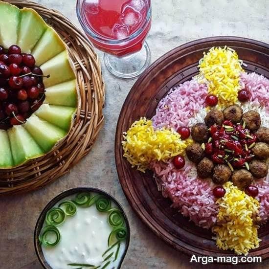 زیباترین تزیینات غذا به سبک ایرانی+عکس