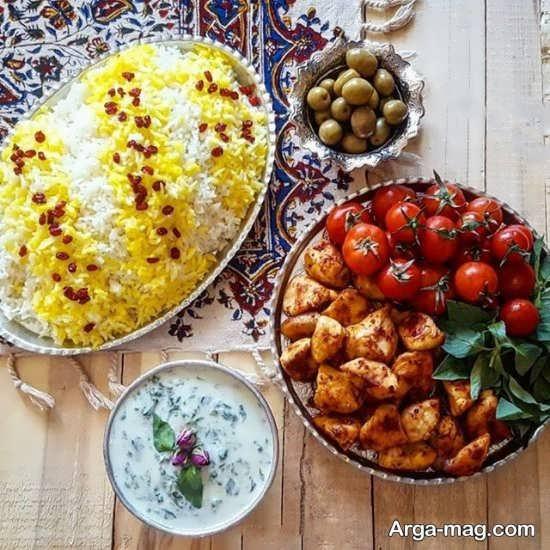 ایده تزیین غذا به سبک ایرانی