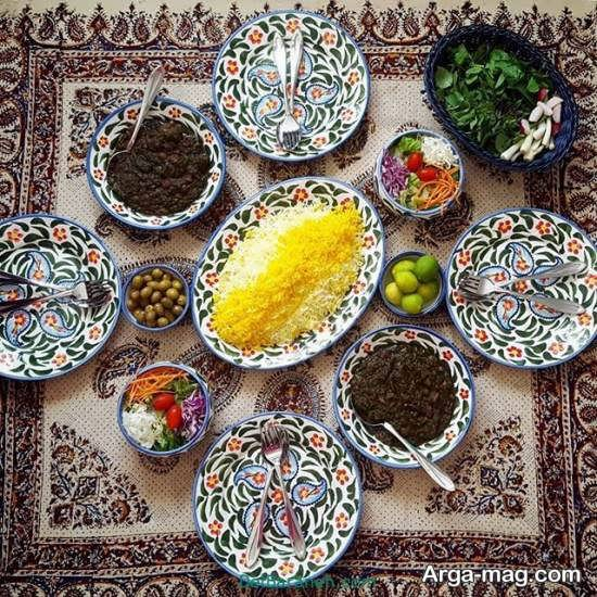 تزیینات زیبای غذا به سبک ایرانی