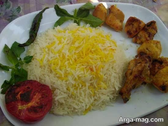 مدل سفره آرایی غذا به سبک ایرانی