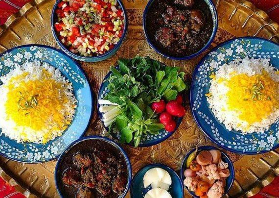 انواع تزیین غذا به سبک ایرانی
