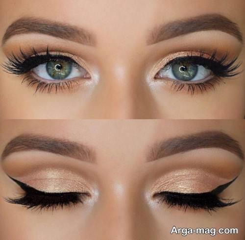 میکاپ چشم زیبا و شیک