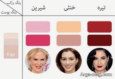 رژ لب برای افراد با رنگ پوست روشن