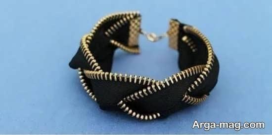 مدل دستبند زیپی بافته شده