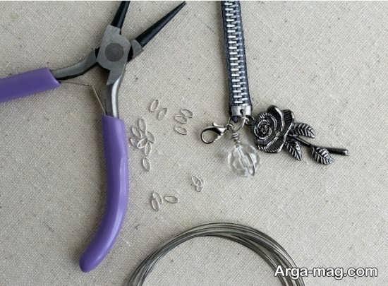 ساخت دستبند با زیپ+تصویر