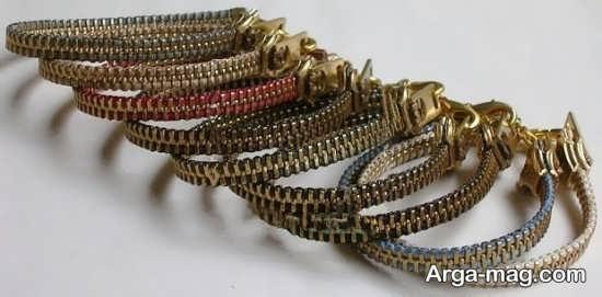 ساخت دستبند زیپی طلایی