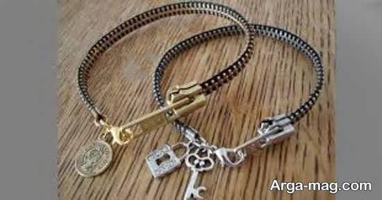 ساخت دستبند دخترانه با زیپ