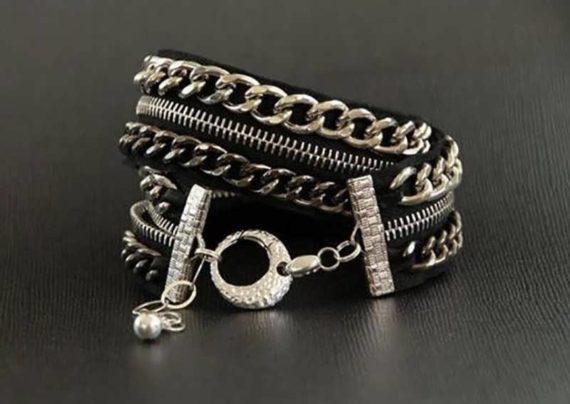 ساخت دستبند زیبا با زیپ