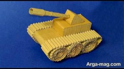ساخت کاردستی تانک