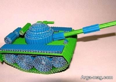 آموزش ساختن تانک با دو رنگ مختلف