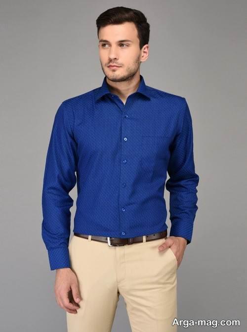 پیراهن آبی مردانه