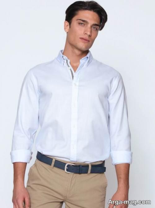 پیراهن رنگ روشن مردانه