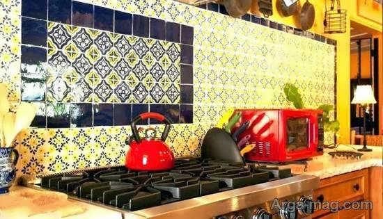 انواع نمونه های چیدمان آشپزخانه به سبک مکزیکی