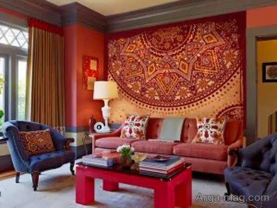 چیدمان منزل با سبک رنگارنگ و در عین حال ساده ی مکزیکی