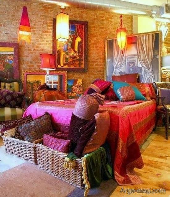 چیدمان اتاق خواب به سبک ساده ی مکزیکی