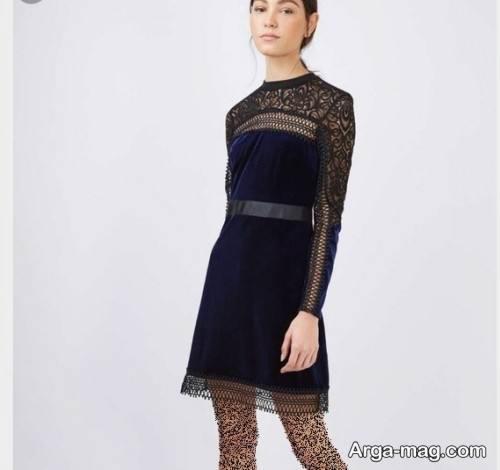 لباس مجلسی آستین بلند دخترانه