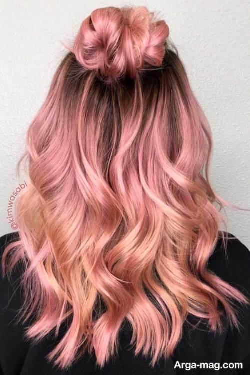 رنگ موی شیک رزگلد