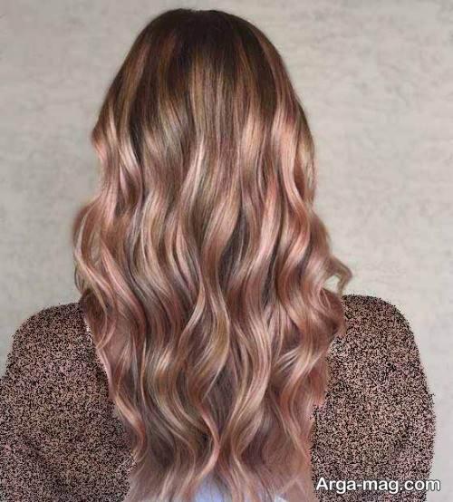 رنگ موی تیره رزگلد