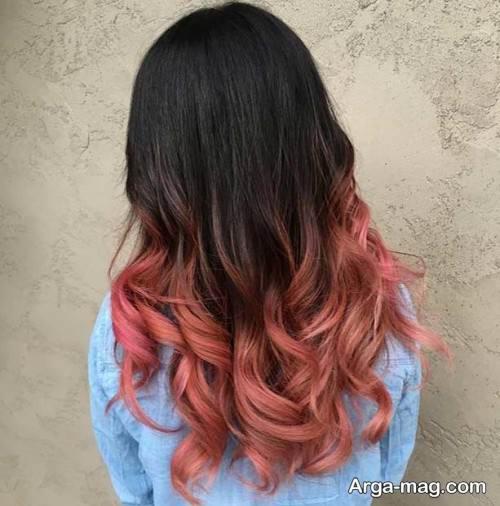 رنگ موی آمبره رزگلد