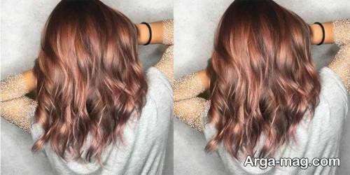 رنگ مو زیبا و شیک رزگلد