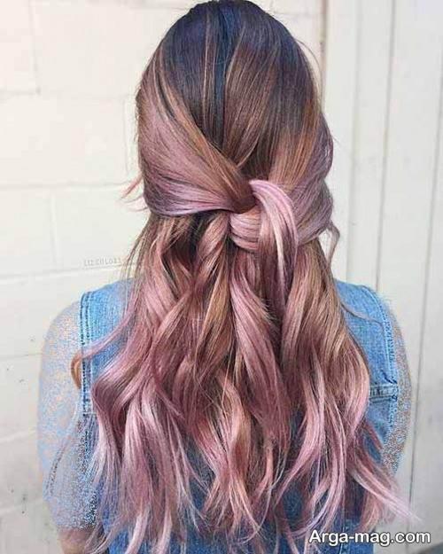 رنگ موی دخترانه رزگلد