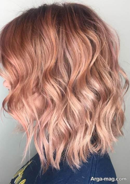 رنگ موی روشن رزگلد