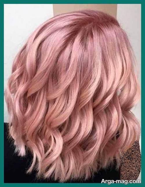 رنگ مو رزگلد با دکلره