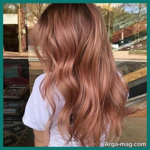 رنگ مو رزگلد شیک