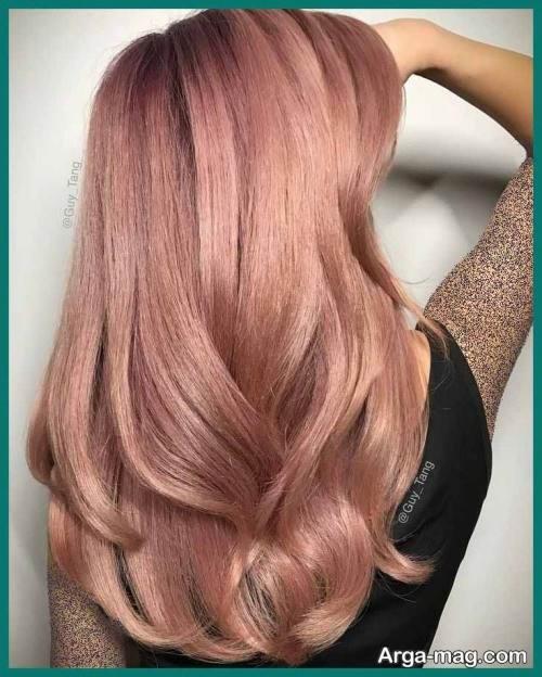 رنگ مو زنانه رزگلد