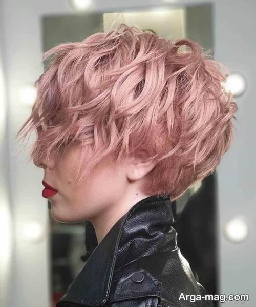 رنگ مو دخترانه رزگلد
