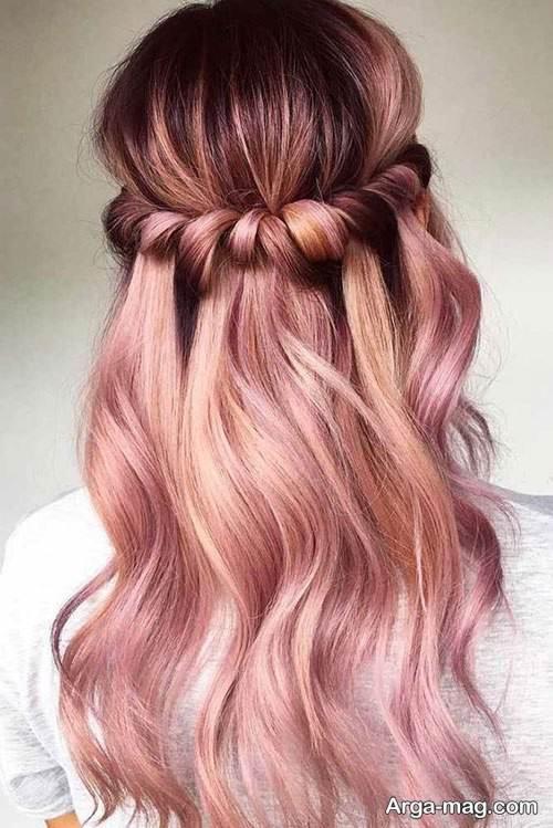 رنگ مو زیبا رزگلد