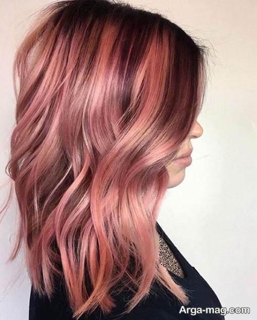 رنگ موی خاص رزگلد