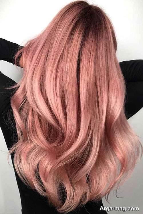 رنگ مو رزگلد زیبا و شیک