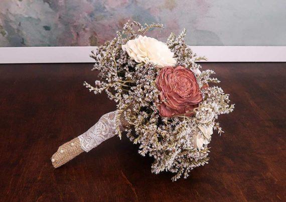 عکس دسته گل عروس روستیک