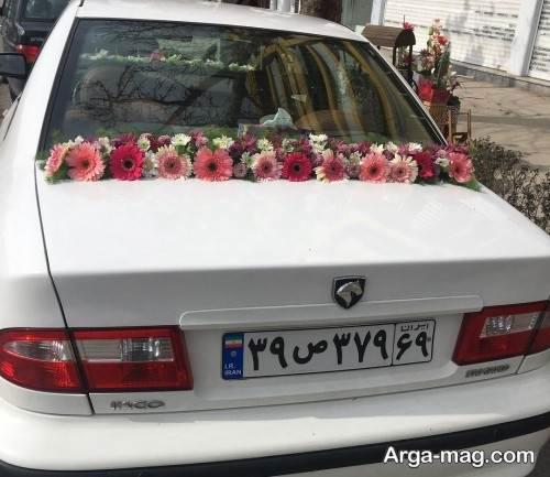 تزیین جالب ماشین عروس با گل