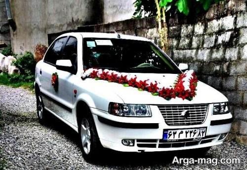تزیینات زیبا ماشین عروس سمند
