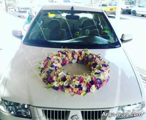 تزیین ماشین عروس سمند با گل